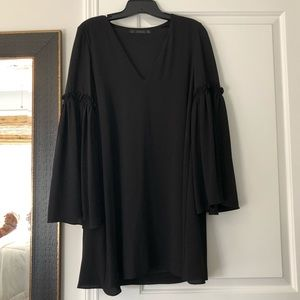 Zara frill sleeve shift dress